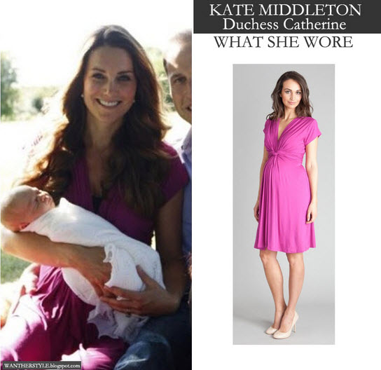 What Kate Middleton Wore In First Baby George Pictures - Complete Savings